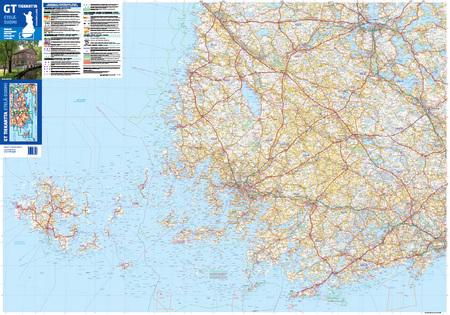 FINLANDIA POŁUDNIOWA 1:250 000 mapa Karttakeskus 2020 (2)