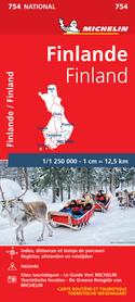 FINLANDIA 754 mapa samochodowa 1:1 250 000 MICHELIN 2021