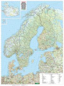 SKANDYNAWIA mapa ścienna 1:2 000 000 FREYTAG & BERNDT 2020
