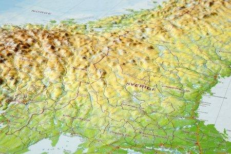 SKANDYNAWIA mapa plastyczna 1:2 900 000 GEORELIEF (4)