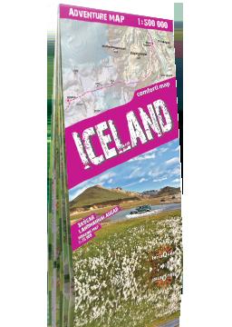 ISLANDIA Skógar Landmannalaugar laminowana mapa samochodowo-turystyczna 1:500 000 EXPRESSMAP 2020