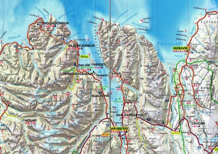 ISLANDIA Skógar Landmannalaugar laminowana mapa samochodowo-turystyczna 1:500 000 EXPRESSMAP 2020 (2)