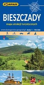 BIESZCZADY mapa atrakcji turystycznych 1:100 000 COMPASS 2021
