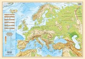 EUROPA mapa fizyczno-polityczna laminowana podkładka EKOGRAF 2021
