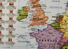 EUROPA mapa fizyczno-polityczna laminowana podkładka EKOGRAF 2021 (2)