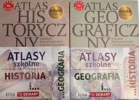 ATLAS GEOGRAFICZNY I HISTORYCZNY DO LICEUM I TECHNIKUM DEMART 2021