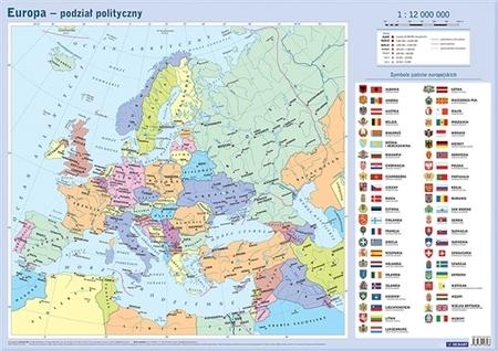 EUROPA polityczna i fizyczna - mapa ścienna / plansza edukacyjna DEMART (1)