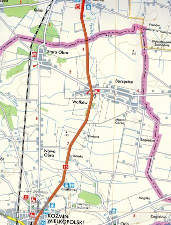KOŹMIN WIELKOPOLSKI miasto i gmina mapa TOPMAPA (2)