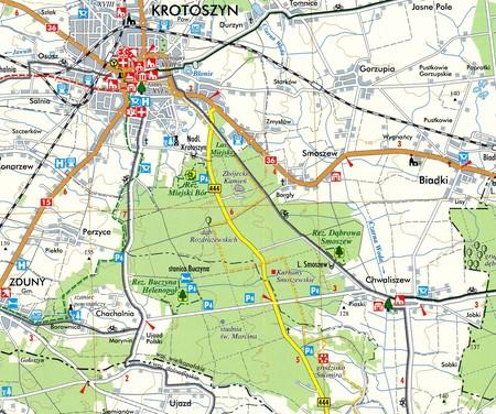 KROTOSZYN I OKOLICE mapa turystyczna 1:50 000 TOPMAPA (2)