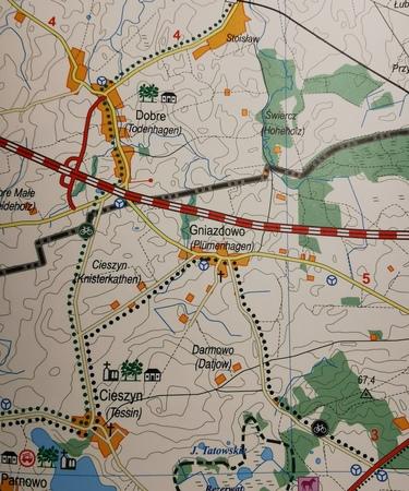 SZLAKI ROWEROWE POWIATU KOSZALIŃSKIEGO mapa 1:55 000 ROKART (2)