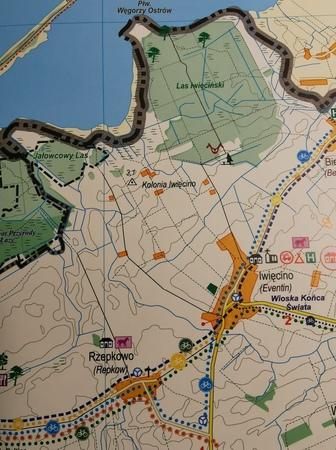 SZLAKI ROWEROWE POWIATU KOSZALIŃSKIEGO mapa 1:55 000 ROKART (3)