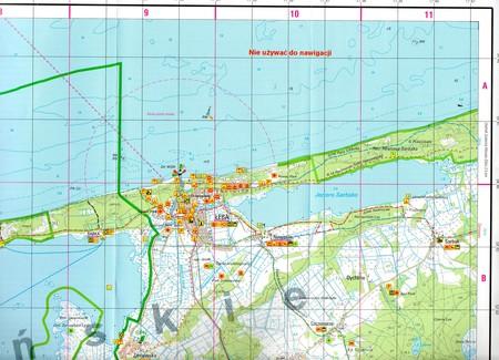WYBRZEŻE SŁOWIŃSKIE mapa topograficzno-turystyczna 1:50 000 WZKART (3)