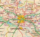 BOTSWANA ZIMBABWE mapa wodoodporna ITMB 2020 (3)
