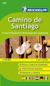 Camino de Santiago OD ST JEAN PIED DE PORT DO SANTIAGO DE COMPOSTELA atlas MICHELIN  2018