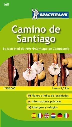 Camino de Santiago OD ST JEAN PIED DE PORT DO SANTIAGO DE COMPOSTELA atlas MICHELIN  2018 (1)