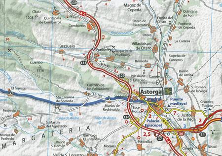 Camino de Santiago OD ST JEAN PIED DE PORT DO SANTIAGO DE COMPOSTELA atlas MICHELIN  2018 (4)