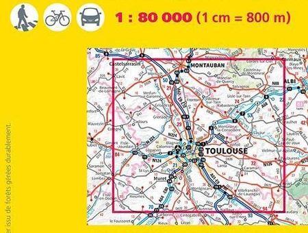TOULOUSE TULUZA I OKOLICE mapa 1:80 000 IGN 2019 (2)