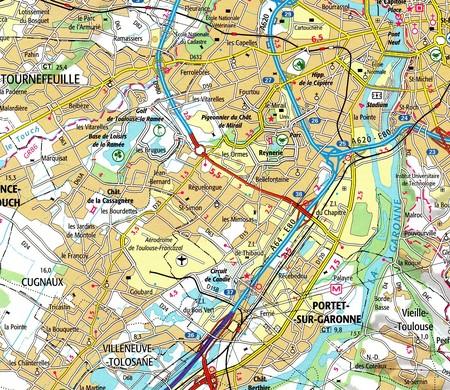 TOULOUSE TULUZA I OKOLICE mapa 1:80 000 IGN 2019 (3)