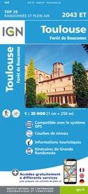Toulouse / Forêt de Bouconne 2043 ET mapa IGN 2019