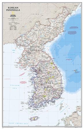 PÓŁWYSEP KOREAŃSKI mapa ścienna NATIONAL GEOGRAPHIC (1)