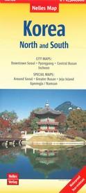 KOREA PÓŁNOCNA I POŁUDNIOWA mapa wodoodporna 1:1 500 000 NELLES MAP