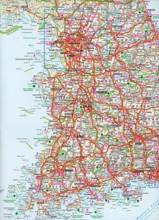 KOREA PÓŁNOCNA I POŁUDNIOWA mapa wodoodporna 1:1 500 000 NELLES MAP (3)