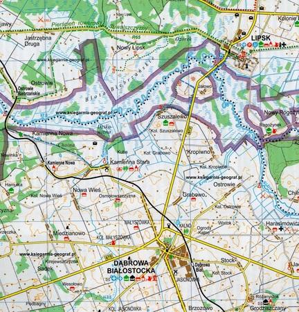 KANAŁ AUGUSTOWSKI mapa turystyczna 1:100 000 TD (4)