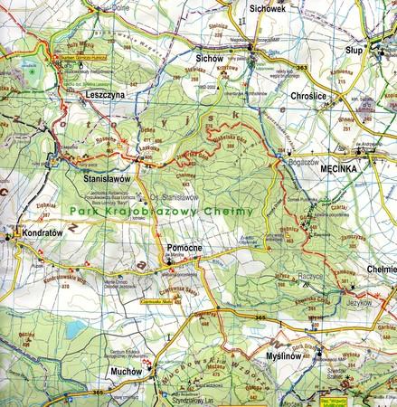 GÓRY I POGÓRZE KACZAWSKIE mapa laminowana 1:50 000 STUDIO PLAN 2021 (2)