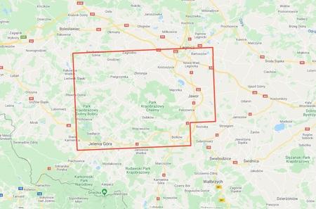 GÓRY I POGÓRZE KACZAWSKIE mapa laminowana 1:50 000 STUDIO PLAN 2021 (3)
