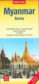 BIRMA MYANMAR mapa wodoodporna 1:1 500 000 NELLES 2019
