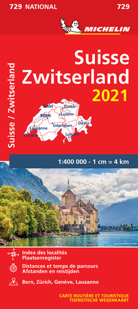 SZWAJCARIA mapa 1:400 000 MICHELIN 2021 (1)