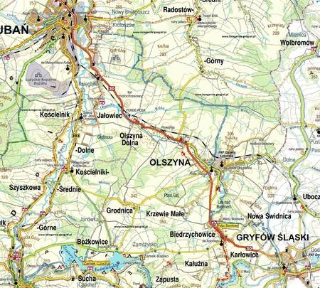 LUBAŃ POWIAT LUBAŃSKI mapa 1:75 000 / 1:9 000 STUDIO PLAN (2)