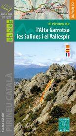 SALINES-VALLESPIR-ALTA GARROTXA mapa z przewodnikiem ALPINA 2020