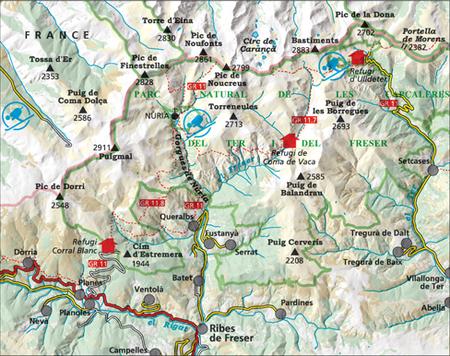 VALL DE NÚRIA – ULLDETER mapa turystyczna 1:25 000 ALPINA 2020 (2)