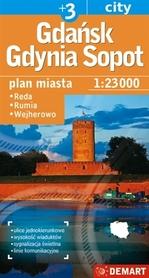 GDAŃSK GDYNIA SOPOT plan miasta 1:26 000 DEMART 2020
