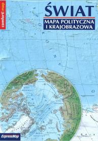ŚWIAT mapa polityczna i krajobrazowa składana laminowana EXPRESSMAP 2020/2021