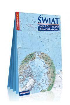 ŚWIAT mapa polityczna i krajobrazowa składana laminowana EXPRESSMAP 2020/2021 (2)