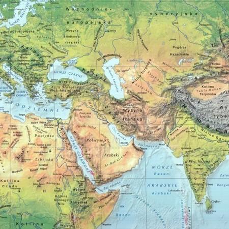 ŚWIAT mapa polityczna i krajobrazowa składana laminowana EXPRESSMAP 2020/2021 (3)