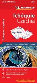 CZECHY mapa 1:450 000 MICHELIN 2020