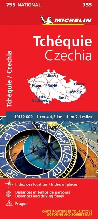 CZECHY mapa 1:450 000 MICHELIN 2020 (1)