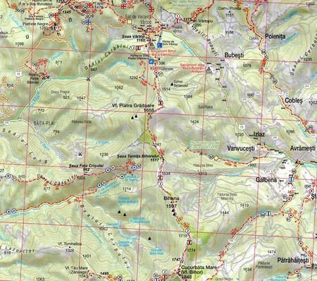 GÓRY BIHOR PLATOUL PADIS mapa turystyczna 1:55 000 / 1:25 000 Schubert & Franzke (3)