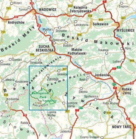 ZAWOJA BABIA GÓRA mapa turystyczna COMPASS 2021 (2)