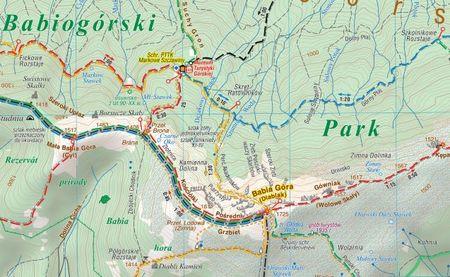 ZAWOJA BABIA GÓRA mapa turystyczna COMPASS 2021 (3)