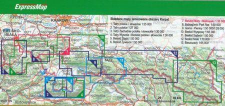 BESKID MAŁY I MAKOWSKI laminowana mapa turystyczna EXPRESSMAP 2021 (3)