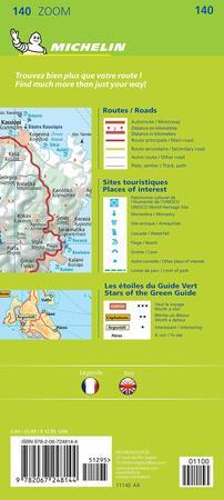 KORFU I WYSPY JOŃSKIE mapa 1:80 000 MICHELIN 2021 (2)