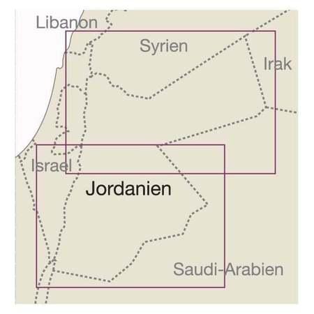 JORDANIA mapa 1:400 000 REISE KNOW HOW 2020 (3)
