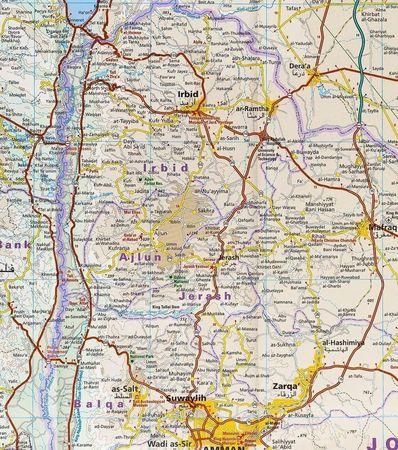 JORDANIA mapa 1:400 000 REISE KNOW HOW 2020 (4)