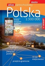 POLSKA atlas samochodowy 1:300 000 DEMART 2021