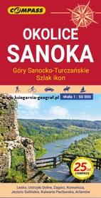 OKOLICE SANOKA mapa turystyczna 1:50 000 COMPASS 2021