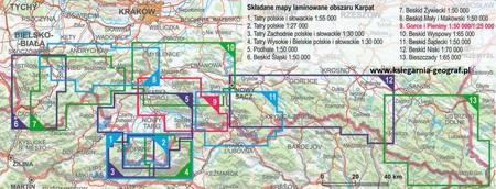 GORCE I PIENINY laminowana mapa turystyczna 1:50 000 EXPRESSMAP 2021 (2)